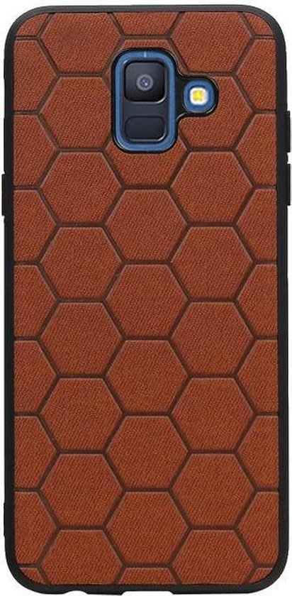 Wicked Narwal | Hexagon Hard Case voor Samsung Samsung Galaxy A6 2018 Bruin