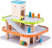 Afbeelding van Houten speelgoed garage met lift speelgoed