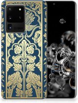 Back Cover Samsung S20 Ultra TPU Siliconen Hoesje Golden Flowers