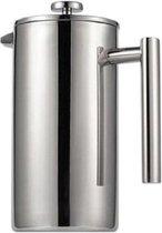 4cookz® gepolijst RVS cafetiere 0,8 liter - dubbelwandig