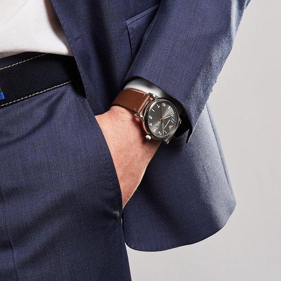 Emporio Armani Luigi horloge  - Bruin - 43mm