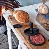 Barbecue set inclusief hamburgerpers, zwart