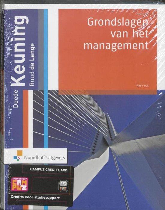 Grondslagen van het management-hoofdboek - Doede Keuning |