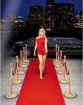 2x Rode loper 450 x 50 cm - Gala party feestversiering
