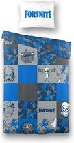 Fortinte Faces Dekbedovertrek - 140x200cm - Eenpersoons - Blauw