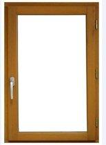 Venster 1 blad trekt rechts - H.75 x W.80 cm - Exotisch hout