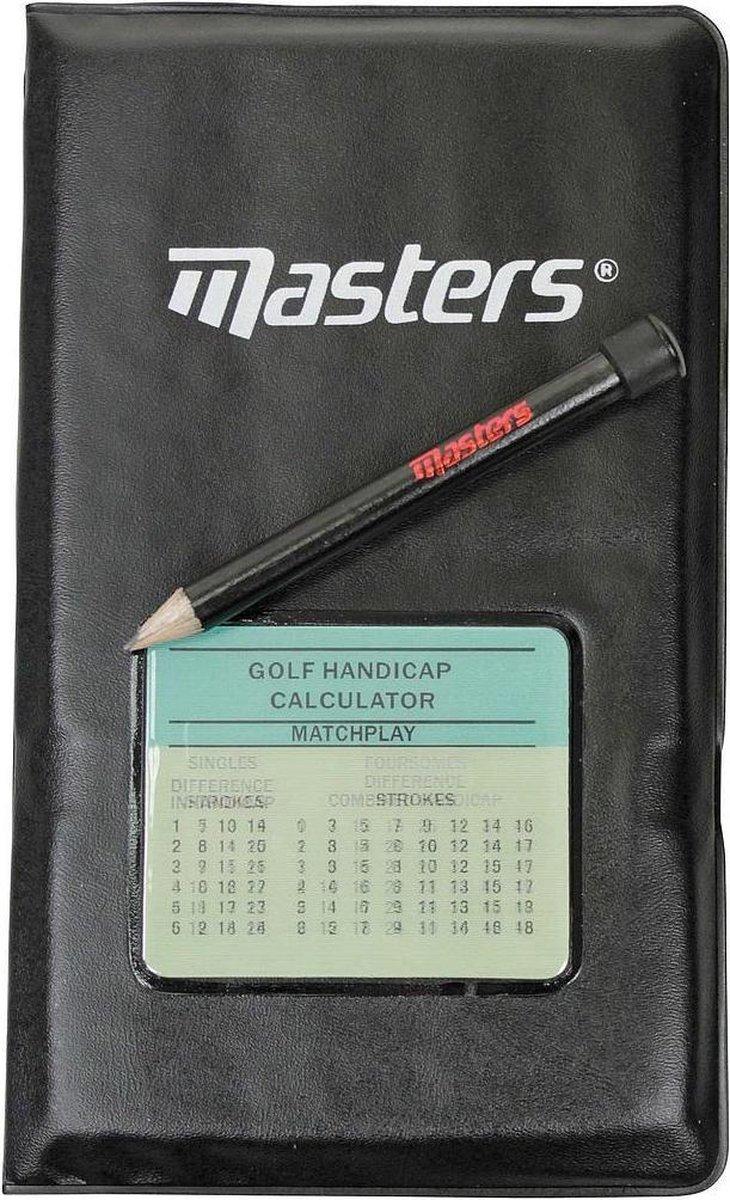 Masters Golf Scorekaarthouder 15.8 X 27.6 Cm Zwart 3-delig