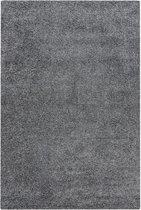 Antraciet Tapijt Hoogpolig Vloerkleed - Omid Calma - 40 x 60- Modern - Woonkamer - Salon - Slaapkamer - Eetkamer