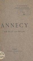 Annecy aux XVe et XVIe siècles