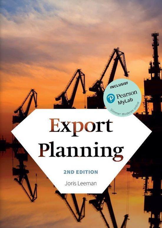 Export planning, met MyLab NL toegangscode - Joris Leeman |