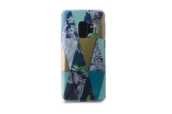 Buenos Triangles Backcover Hoesje Samsung Galaxy S9 - Transparant