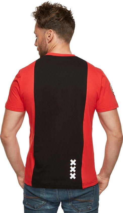 T-shirt ajax rood/zwart Amsterdam xxx maat L