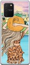 Samsung Galaxy S10 Lite siliconen hoesje - Sunset girl