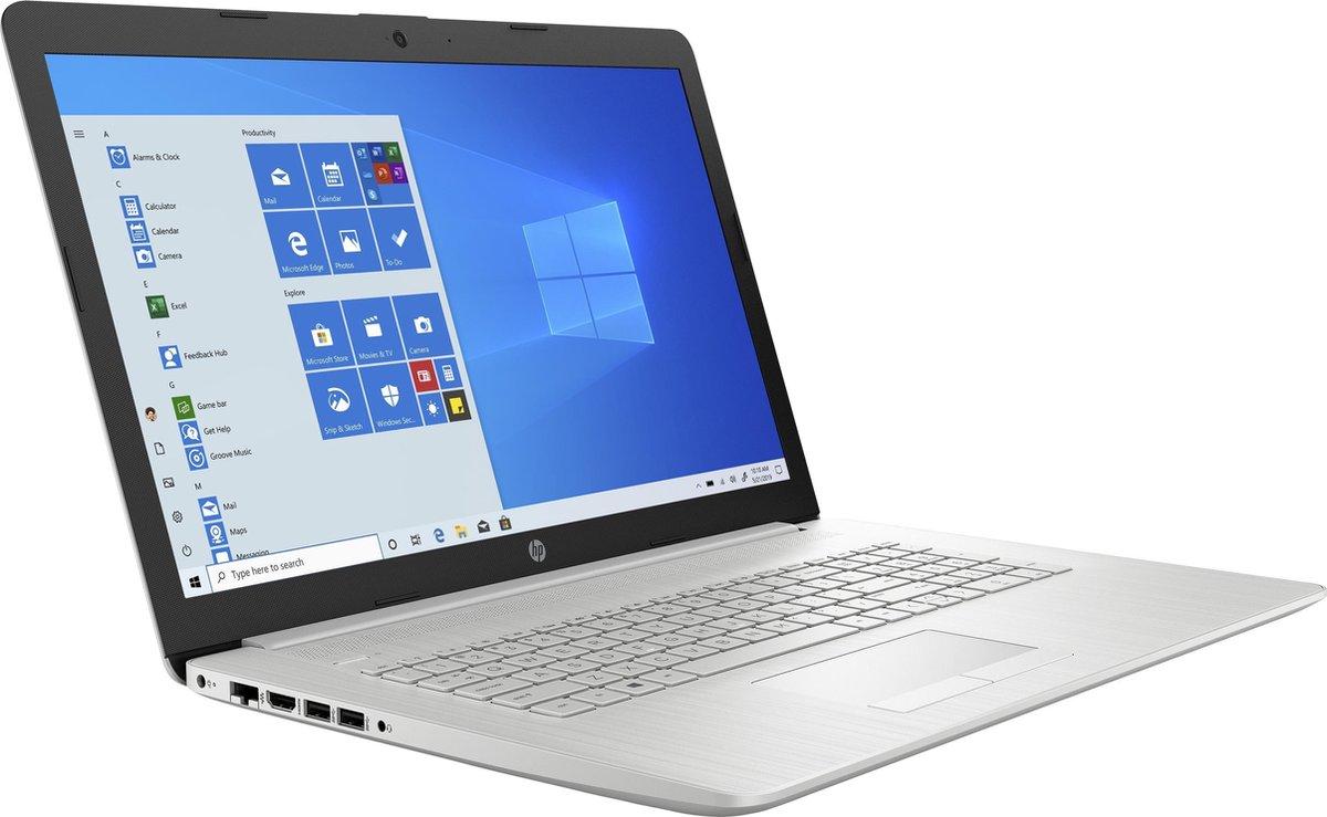"HP 17-by3810nd DDR4-SDRAM Notebook 43,9 cm (17.3"") 1600 x 900 Pixels Intel® 10de generatie Core™ i3 8 GB 512 GB SSD Wi-Fi 5 (802.11ac) Windows 10 Home Zilver"