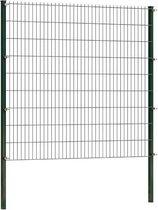 Dubbelstaafmat hekwerk 183 cm hoog | Dubbelstaafmatten | Groen | 2 meter lang