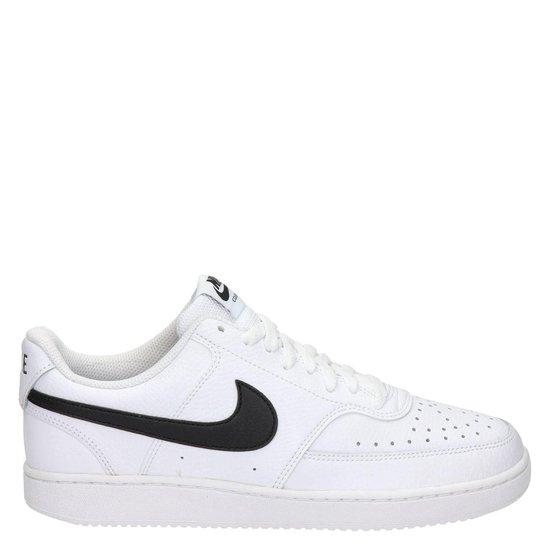 Nike Court Vision Low heren sneaker. - Wit zwart - Maat 46