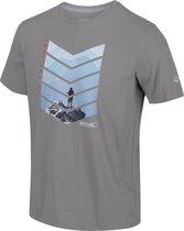 Mannen Breezed Grafisch T-shirt Outdoorshirt grijs