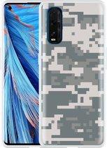Oppo Find X2 Hoesje Army Digi Camouflage