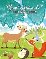 Great Animals Coloring Book