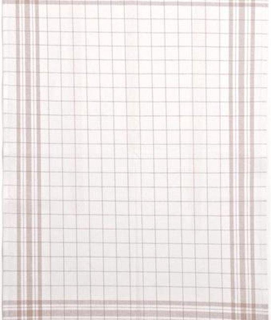 Clarysse Glazendoeken Halflinnen Zand 52x72cm 6 stuks