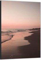 Dibond –Zwart Strand– 30x40 Foto op Aluminium (met ophang)