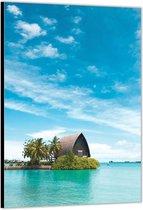 Dibond –Huisje aan het Water– 30x40 Foto op Aluminium (met ophang)