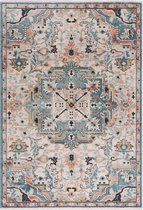 Blauw Tapijt Laagpolig Vintage Vloerkleed - Omid Vintage Lifestyle 2 - 80x150cm- Modern - Woonkamer - Salon - Slaapkamer - Eetkamer
