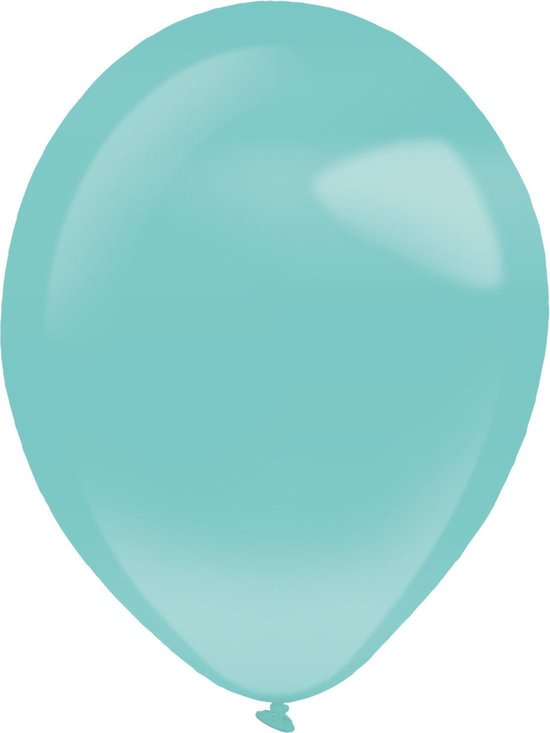 Amscan Ballonnen Parel 35 Cm Latex Turquoise 50 Stuks