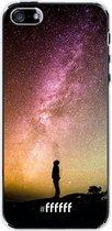 iPhone SE (2020) Hoesje Transparant TPU Case - Watching the Stars #ffffff