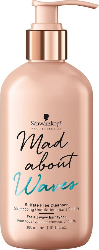 Schwarzkopf - Mad About Waves - Sulfate Free Cleanser - 300 ml