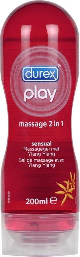 Durex Massage Olie en Glijmiddel 2-in-1 - Sensual met Ylang Ylang - 200 ml