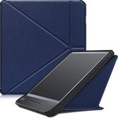 Kobo Libra H2O hoesje - Tri-Fold Book Case - Donker Blauw