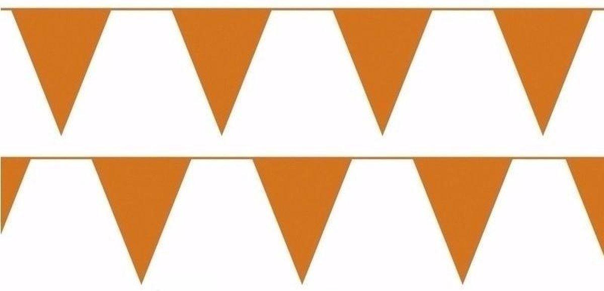 3x oranje slinger / vlaggenlijn van 10 meter - totaal 30 m - EK / WK