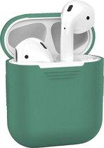 Siliconen Bescherm Hoesje voor Apple AirPods 1 Case - Midnight Green