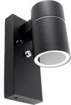 Tekalux Gerjo - Buiten wandlamp - Zwart - GU10