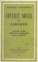 Omslag Contrat social et liberté