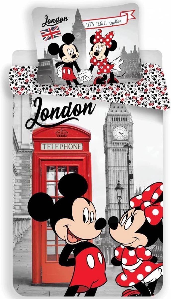 Dekbedovertrek- Disney Minnie Mouse Londen- Eenpersoons - 140x200 cm - Multi kopen