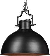relaxdays - hanglamp industriële stijl groot - shabby look - plafondlamp  metaal zwart