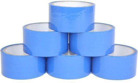 Verpakkingstape Eco Solvent 48mm x 50 meter - blauw - 36 stuks