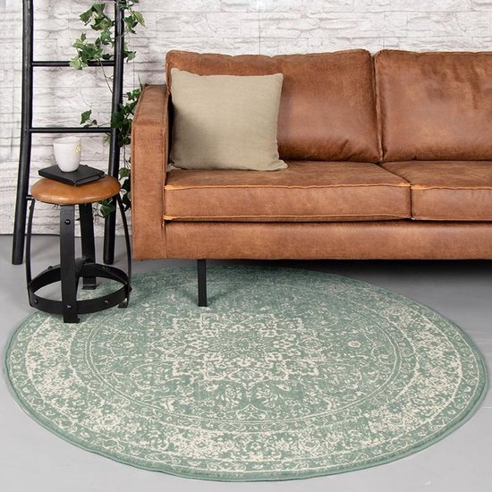Rond vintage vloerkleed - Wonder Oriental Groen Ø 100cm