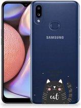 Telefoonhoesje met Naam Samsung Galaxy A10s Cat Good Day