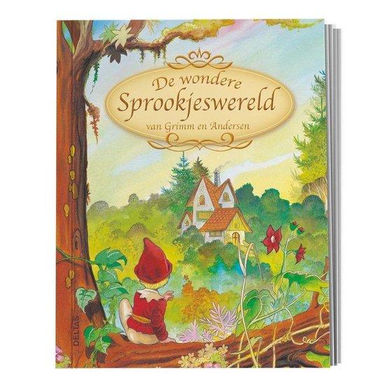 Boek cover De Wondere Sprookjeswereld van Grimm en Andersen van Wilhelm Grimm (Hardcover)