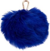 Pauls Boutique Sleutelhangers Large Fur Pom Trinkets Gold Blauw