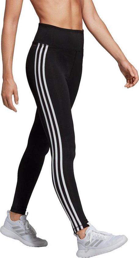 adidas W D2M 3S High Rise Tight Dames Sportlegging BlackWhite Maat M