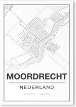 Poster/plattegrond MOORDRECHT - A4