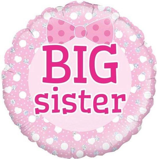 Folie ballon big sister holografisch 18 inch (45cm)