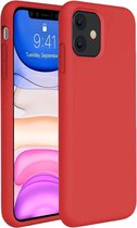 iPhone 11 Hoesje Siliconen Case Hoes Back Cover TPU - Rood