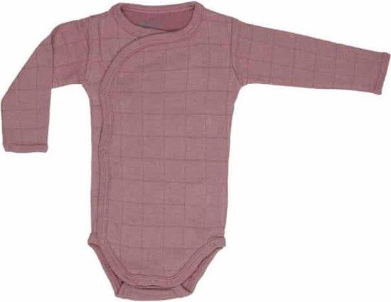 Lodger Rompertje Baby - Romper Solid - Donkerroze - Lange mouw - 56