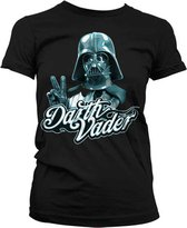 STAR WARS - T-Shirt Cool Vader - GIRLY - Black (XXL)