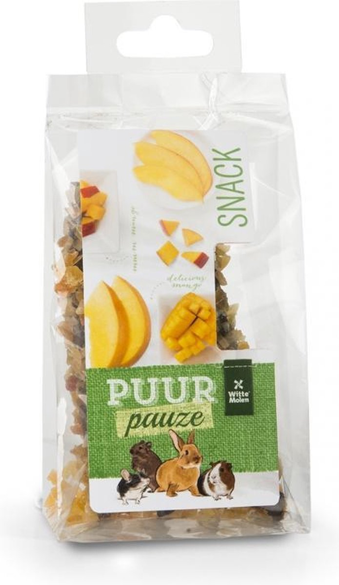 Witte Molen Puur pauze knabbelhoutjes mango 50gr kopen